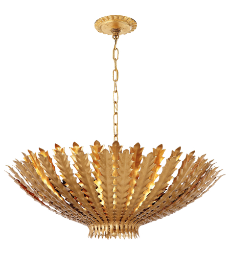 Visual Comfort ARN 5011G AERIN Casual Hampton Large Chandelier in Gild