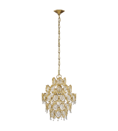 Visual Comfort ARN 5148G-CG AERIN Traditional Emile Chandelier in Gild with Crystal