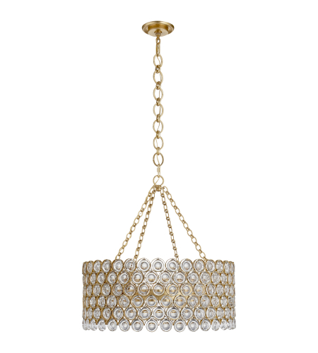 Visual Comfort ARN 5170G-CG AERIN Casual Lesina Chandelier in Gild