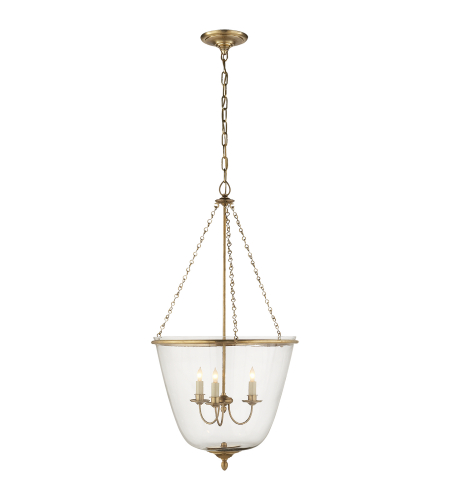 Visual Comfort ARN 5200HAB AERIN Traditional Pondview Medium Jar Lantern in Hand-Rubbed Antique Brass