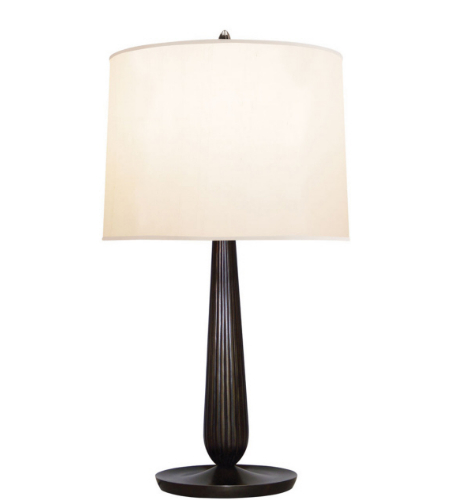 Visual Comfort BBL 3013BZ S Barbara Barry Modern Coupe Table Lamp In Bronze  With Silk