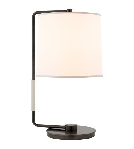 Great Visual Comfort BBL 3070BZ S Barbara Barry Modern Swing Table Lamp In Bronze  With Silk