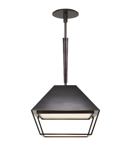 Visual Comfort BBL 5101BZ-FA Barbara Barry Modern Odeum Small Lantern in Bronze with Frosted Acrylic Diffuser