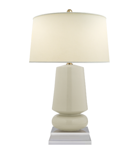 Visual Comfort CHA 8668ICO PL E. F. Chapman Modern Parisienne Small Table  Lamp In Iced Coconut