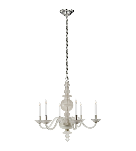 Visual Comfort CHC 1154Q Chapman & Myers Traditional George II Large Chandelier in Natural Quartz Stone