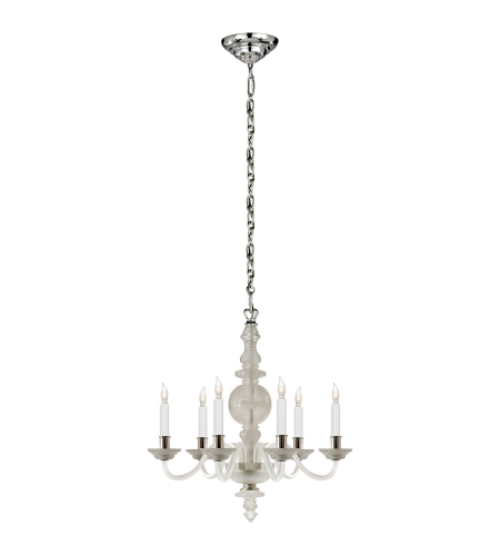 Visual Comfort CHC 1155Q Chapman & Myers Traditional George II Small Chandelier in Natural Quartz Stone