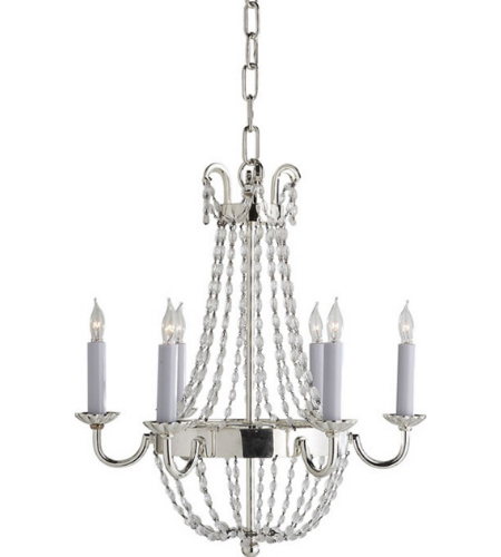 Visual Comfort CHC 1407PS-SG Chapman & Myers Traditional Petite Paris Flea Market Chandelier in Polished Silver