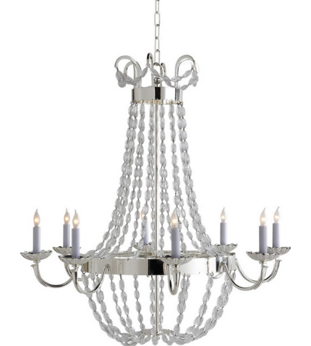 Visual Comfort CHC 1408PS-SG Chapman & Myers Traditional Paris Flea Market Large Chandelier in Polished Silver