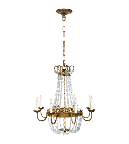 Visual Comfort CHC 1426AB-SG Chapman & Myers Traditional Paris Flea Market Medium Chandelier in Antique-Burnished Brass