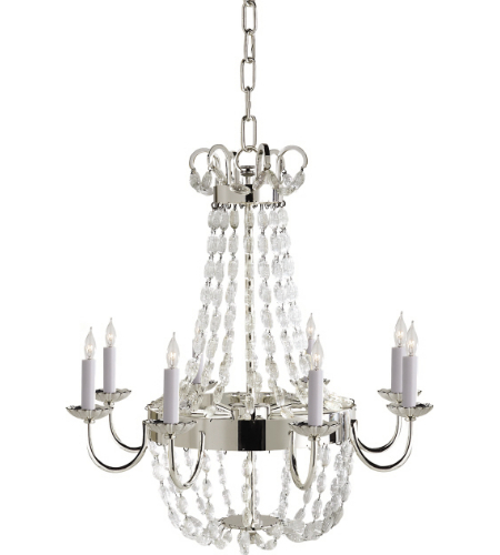 Visual Comfort CHC 1426PS-SG Chapman & Myers Traditional Paris Flea Market Medium Chandelier in Polished Silver