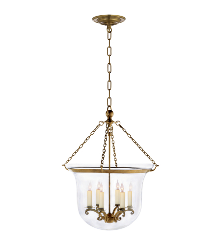 Visual Comfort CHC 2110AB Chapman & Myers Traditional Country Large Bell Jar Lantern in Antique-Burnished Brass