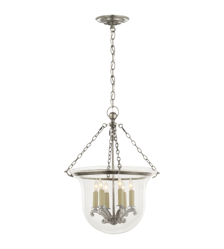 Visual Comfort CHC 2117AN Chapman & Myers Traditional Country Medium Bell Jar Lantern in Antique Nickel