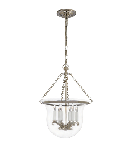 Visual Comfort CHC 2117PN E. F. Chapman Traditional Country Medium Bell Jar Lantern in Polished Nickel