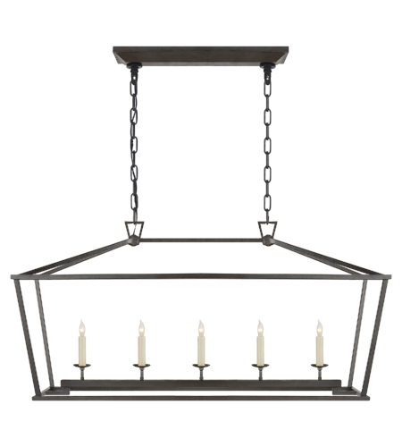 Visual Comfort CHC 2156AI E. F. Chapman Casual Darlana Medium Linear Lantern in Aged Iron