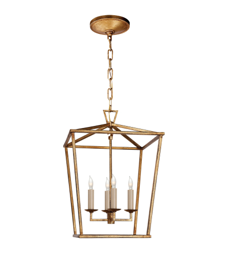 Visual Comfort CHC 2164GI E. F. Chapman Casual Darlana Small Lantern in Gilded Iron