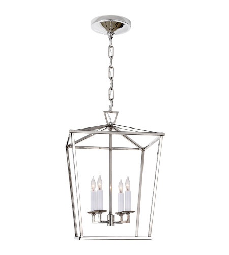 Visual Comfort CHC 2164PN E. F. Chapman Casual Darlana Small Lantern in Polished Nickel