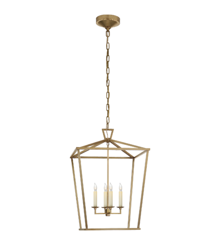 Visual Comfort CHC 2165AB E. F. Chapman Casual Darlana Medium Lantern in Antique- Burnished Brass