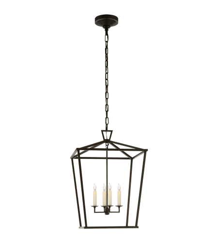Visual Comfort CHC 2165AI E. F. Chapman Casual Darlana Medium Lantern in Aged Iron