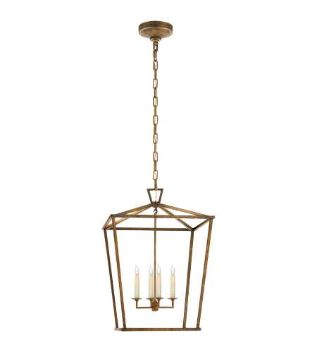 Visual Comfort CHC 2165GI E. F. Chapman Casual Darlana Medium Lantern in Gilded Iron