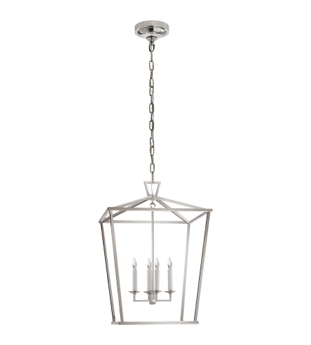 Visual Comfort CHC 2165PN E. F. Chapman Casual Darlana Medium Lantern in Polished Nickel