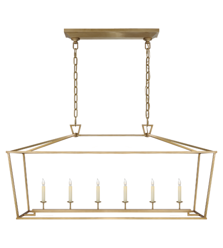 Visual Comfort CHC 2166AB E. F. Chapman Casual Darlana Large Linear Lantern in Antique- Burnished Brass