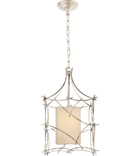 Visual Comfort CHC 2169BSL-NP E. F. Chapman Casual Victoria Small Lantern in Burnished Silver Leaf with Natural Paper Shade