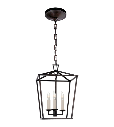 Visual Comfort CHC 2175AI E. F. Chapman Casual Darlana Mini Lantern in Aged Iron