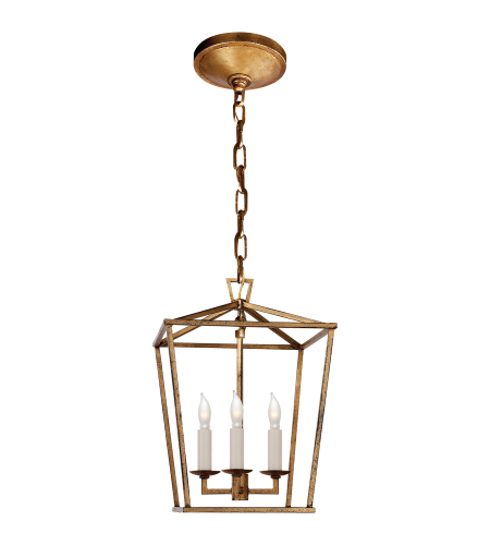 Visual Comfort CHC 2175GI E. F. Chapman Casual Darlana Mini Lantern in Gilded Iron