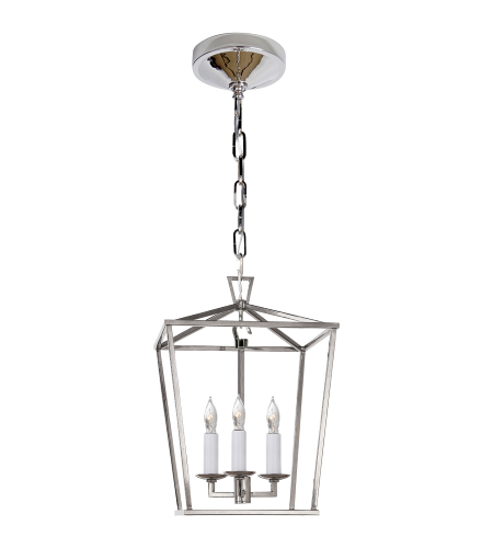 Visual Comfort CHC 2175PN E. F. Chapman Casual Darlana Mini Lantern in Polished Nickel
