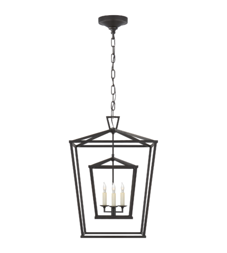 Visual Comfort CHC 2178AI E. F. Chapman Casual Darlana Medium Double Cage Lantern in Aged Iron
