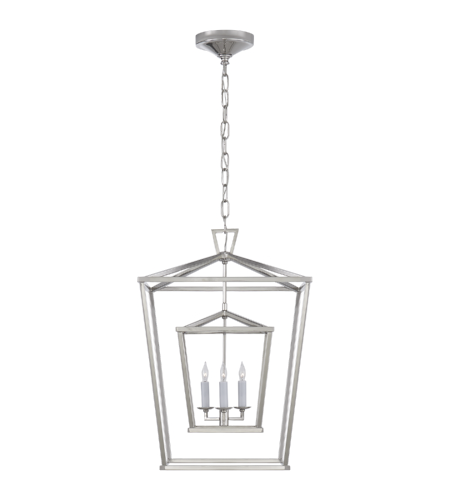 Visual Comfort CHC 2178PN E. F. Chapman Casual Darlana Medium Double Cage Lantern in Polished Nickel