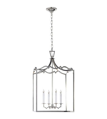 Visual Comfort CHC 2181PN E. F. Chapman Casual Darlana Medium Fancy Lantern in Polished Nickel