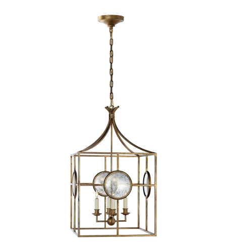 Visual Comfort CHC 2186GI E. F. Chapman Traditional Gramercy Medium Lantern in Gilded Iron