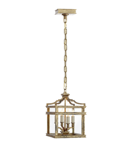 Visual Comfort CHC 2190GI E. F. Chapman Modern Mykonos Mini Lantern in Gilded Iron