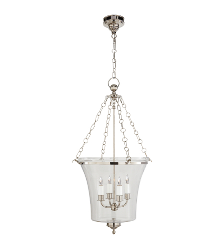 Visual Comfort CHC 2210PN E. F. Chapman Traditional Sussex Medium Bell Jar Lantern in Polished Nickel