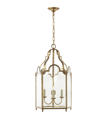 Visual Comfort CHC 3414GI E. F. Chapman Casual French Market Medium Lantern in Gilded Iron