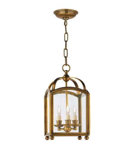 Visual Comfort CHC 3420AB E. F. Chapman Traditional Arch Top Mini Lantern in Antique-Burnished Brass