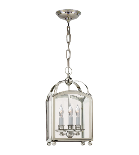 Visual Comfort CHC 3420PN E. F. Chapman Traditional Arch Top Mini Lantern in Polished Nickel