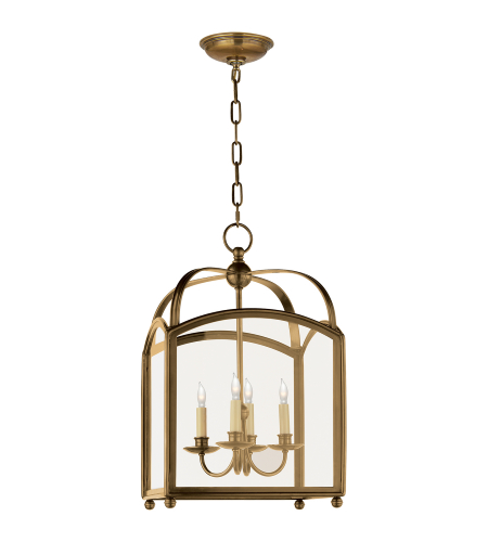 Visual Comfort CHC 3421AB E. F. Chapman Traditional Arch Top Small Lantern in Antique-Burnished Brass