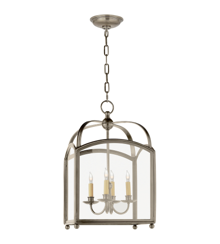 Visual Comfort CHC 3421AN E. F. Chapman Traditional Arch Top Small Lantern in Antique Nickel