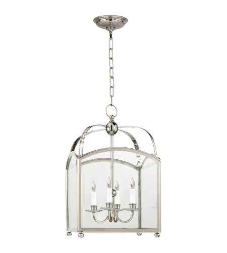 Visual Comfort CHC 3421PN E. F. Chapman Traditional Arch Top Small Lantern in Polished Nickel