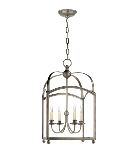 Visual Comfort CHC 3422AN E. F. Chapman Traditional Arch Top Medium Lantern in Antique Nickel