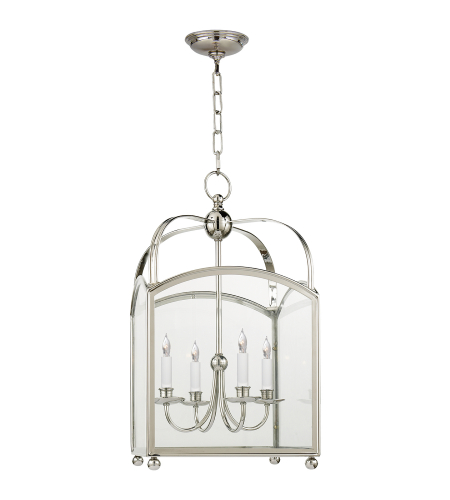 Visual Comfort CHC 3422PN E. F. Chapman Traditional Arch Top Medium Lantern in Polished Nickel