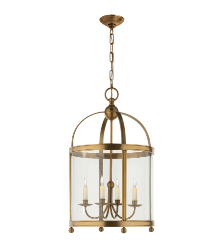 Visual Comfort CHC 3423AB E. F. Chapman Traditional Edwardian Arch Top Medium Lantern in Antique-Burnished Brass