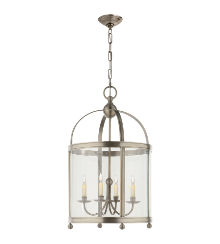Visual Comfort CHC 3423AN E. F. Chapman Traditional Edwardian Arch Top Medium Lantern in Antique Nickel