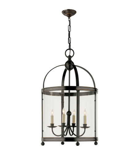 Visual Comfort CHC 3423BZ E. F. Chapman Traditional Edwardian Arch Top Medium Lantern in Bronze