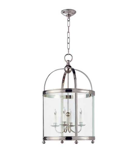 Visual Comfort CHC 3423PN E. F. Chapman Traditional Edwardian Arch Top Medium Lantern in Polished Nickel