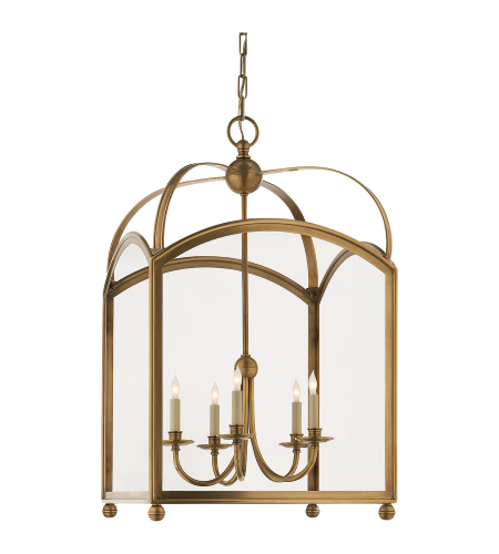 Visual Comfort CHC 3425AB E. F. Chapman Traditional Arch Top Large Lantern in Antique-Burnished Brass