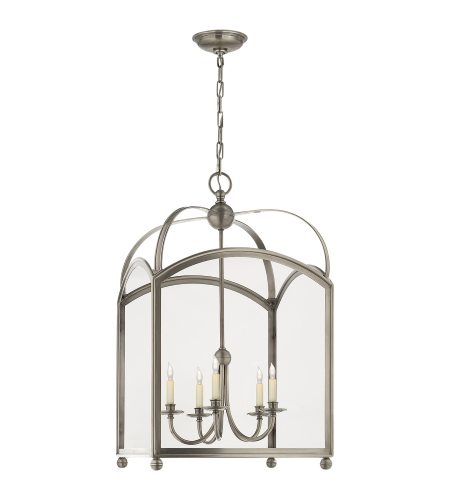 Visual Comfort CHC 3425AN E. F. Chapman Traditional Arch Top Large Lantern in Antique Nickel