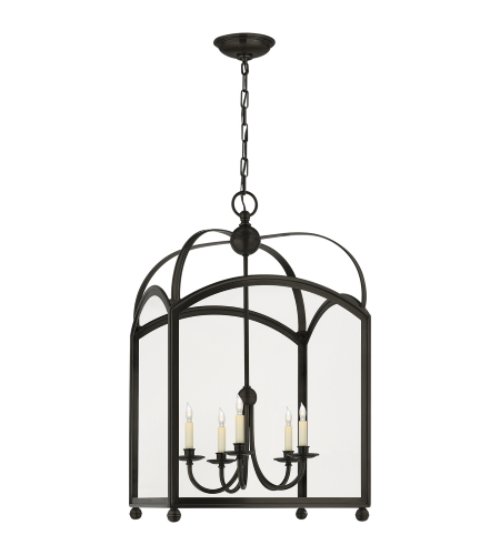Visual Comfort CHC 3425BZ E. F. Chapman Traditional Arch Top Large Lantern in Bronze